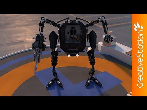 Robot revolution - 3D Speed art (#Cinema4D) | CreativeStation