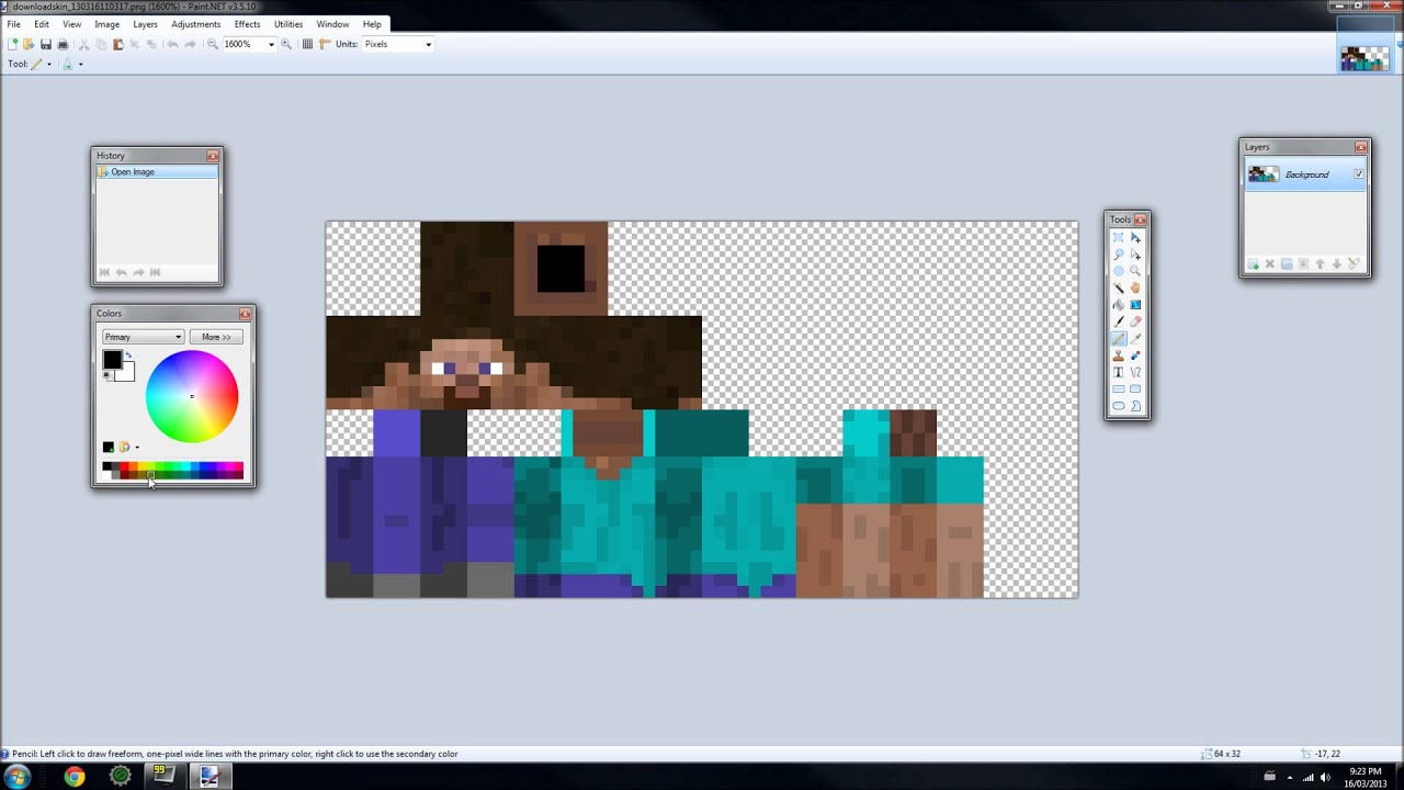 how to make minecraft skins with paint.net - Shading A ...