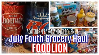 Fourth of July Grocery Haul / Foodlion Grocery/ July in North Carolina