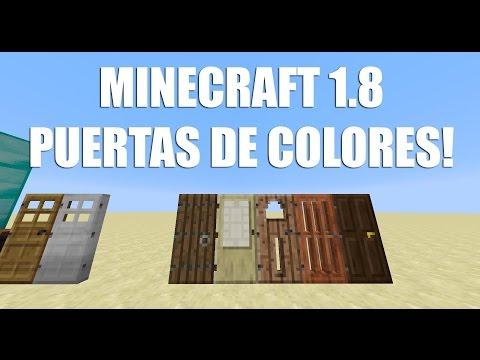 MINECRAFT 1.8 - PUERTAS DE COLORES - Snapshot 32d