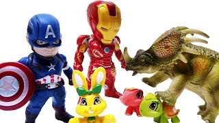 AVENGERS HERO rescue Little BUNNY~! - ColorsToys - Episode 01