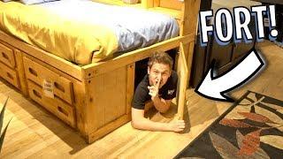 Secret FORT In Hidden Door!