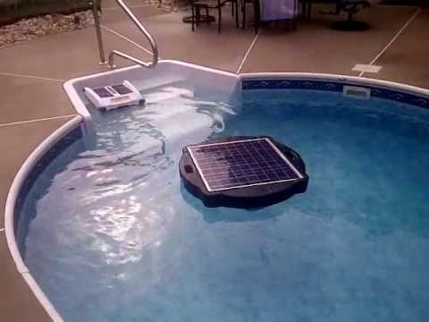 Solar pool pump and filter solar pool youtube for Pool heater and filter
