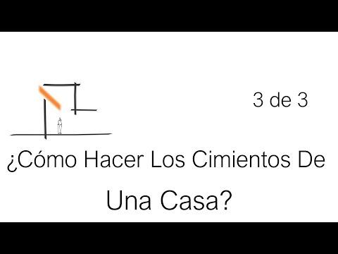 C mo hacer los cimientos de una casa parte 3 de 3 youtube - Como crear tu casa ...