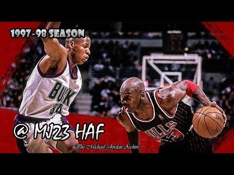 Michael Jordan vs Ray Allen Highlights Bulls vs Bucks (1998.01.16) - Ray Gun raining 3s!