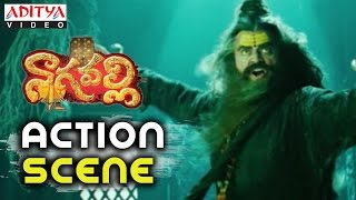 Venkatesh As Old Man Getup Action Scene In Nagavalli Movie