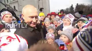 Russia: 'You look taller on TV' – kids dazzle Putin at Kremlin New Year's event