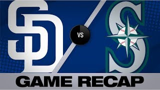 Seager, Smith lead Mariners to a 3-2 win | Padres-Mariners Game Highlights 8/6/19