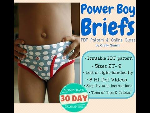 Boys Briefs Underwear Pdf Pattern & Online Class Trailer video