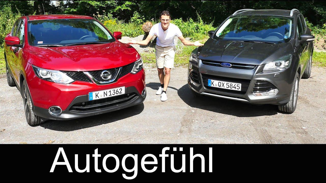 Comparison test new Nissan Qashqai vs Ford Kuga (Escape ...