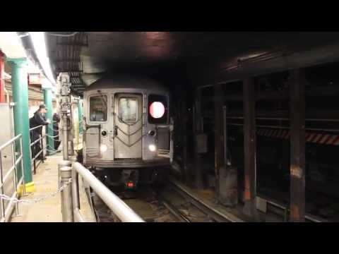 MTA NYC Subway : R62A (1) Train Departing the South Ferry Loop