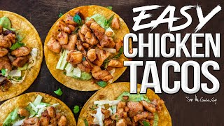Easy Grilled Chicken Tacos (w/ Avocado Cream Sauce) | SAM THE COOKING GUY 4K