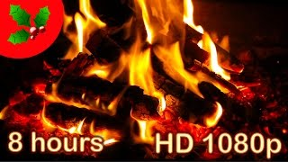🌟 8 HOURS 🌟 CHRISTMAS MUSIC with FIREPLACE ♫ Christmas Music Instrumental Songs ♫ Best HD Playlist