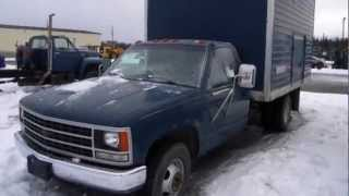 1990 Chevy 4x2 Enclosed Flatbed Truck on GovLiquidation.com