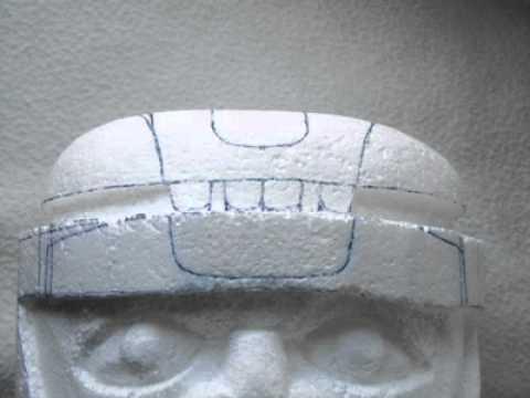 Cabeza Olmeca Dibujo Cabeza Olmeca en Poliestireno
