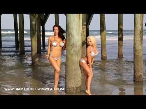 Girls in Thongs Model Gia Macool Swimwear