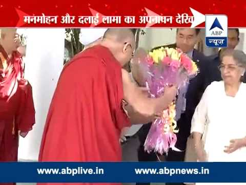 Dalai Lama showers love on Manmohan Singh