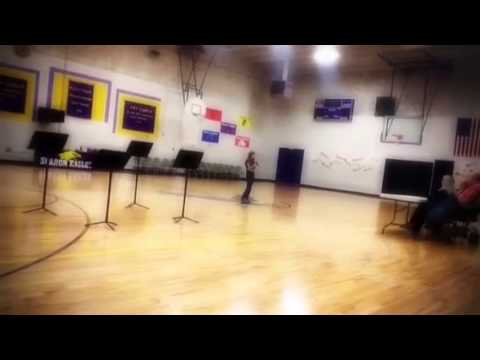 Sharon Middle School Talent Show 2012: Lindsy performs Tayl