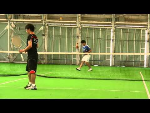 テニス動画 男子ダブルス テニスサークル ガチ内部戦 合宿18