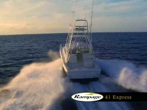 The 41 Rampage Express is the finest Sport Fishing Yacht in its class.