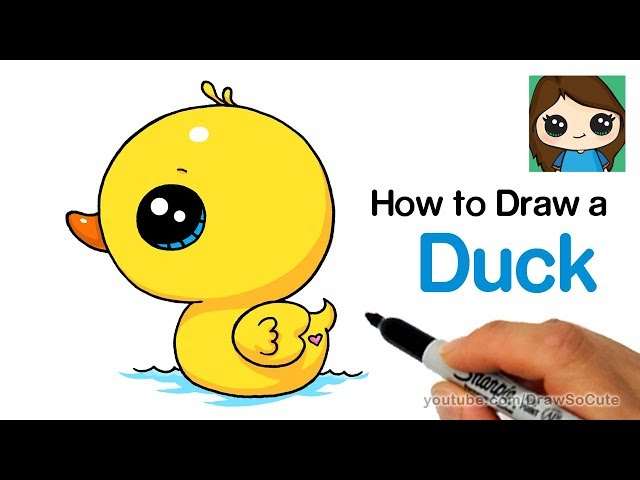How to draw a duck step by step easy