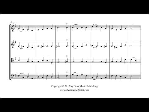 God Rest You Merry, Gentlemen - String Quartet Sheet Music