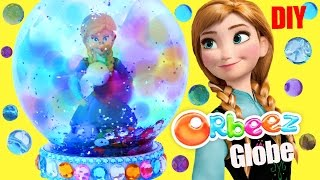 FROZEN ANNA ORBEEZ GLITTER GLOBE How to Make Your Own Glitzi DIY Craft Sequins Colourful Gems