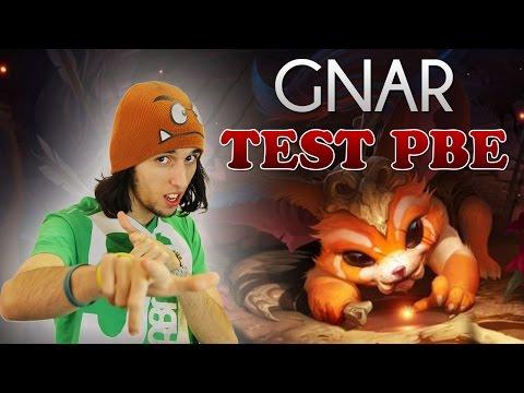 GNAR TEST PBE LOL - LES DEGATS DU MONSTRE ! Gameplay FR par Jiraya