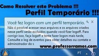 Resolvendo problema de Perfil Temporário no Windows 7 - www.professorramos.com