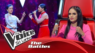 The Battles : Sathisha Bhatt V Pavi Kalpani | Nagada Sang Dhol | The Voice Sri Lanka
