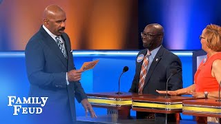 Do this after you kiss? Steve says your marriage is OVER! | Family Feud