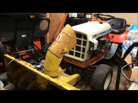 Homemade Snow Thrower Electric Chute Rotator Test