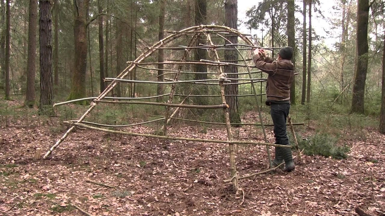 Building A Stone Age Hut As Survival Shelter Youtube