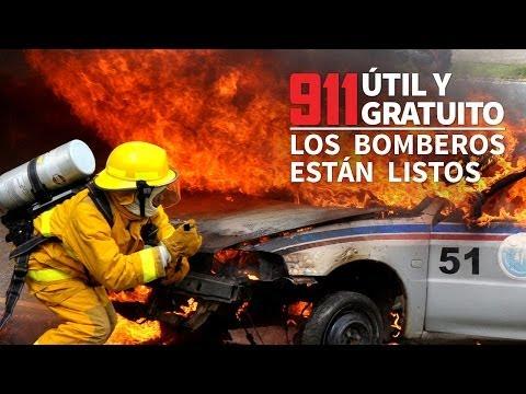 911, útil y gratuito. Los bomberos están listos.