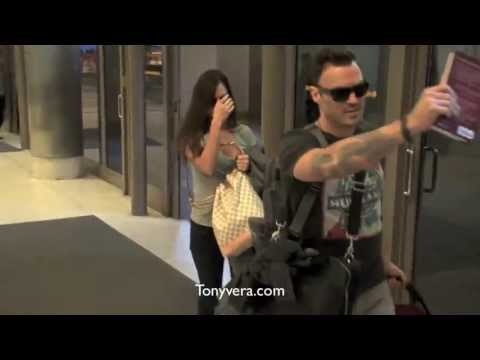 Megan fox Brian Austin Green bodyguard and the paparazzi at LAX