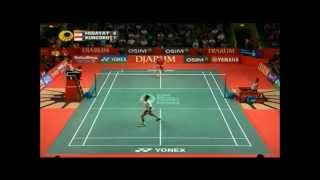 Amazing badminton rally