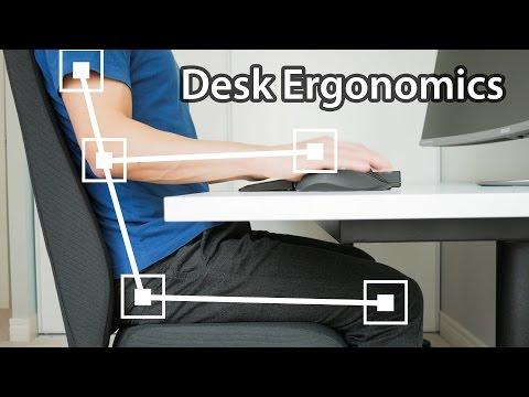 你在办公桌前坐错了的5种方式-电脑办公桌设置人体工程学