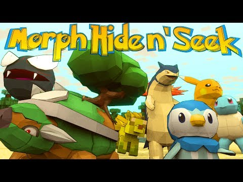 Minecraft Mods | MORPH HIDE AND SEEK - Pixelmon! (Morph Mod)