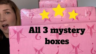 Unboxing All 3 Jeffree Star Mystery Boxes