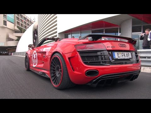 Audi R8 V10 GT650 + Mercedes C63 AMG Androsch Edition - SOUND!