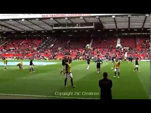 Players Pre-match Warm up Manchester United 4-0 Norwich 26/4/14