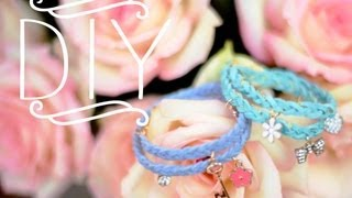 DIY Braided Charm Bracelets