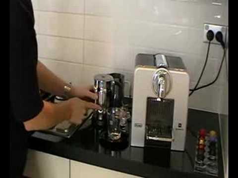 Delonghi Nespresso Coffee Machine Le Cube 185 Demo Youtube