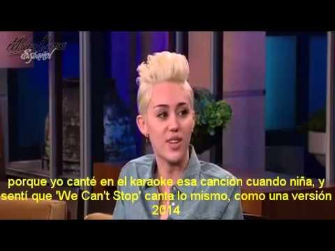 Miley Cyrus en The Tonight Show with Jay Leno - 30/12/2013 [Subtitulada Español]