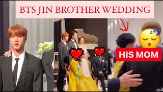 BTS Seokjin on his brother Wedding || Kim Seokjung Wedding