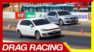 Volkswagen Jetta GLI vs Volkswagen Golf GTI   Drag Racing Vs Series #Piques