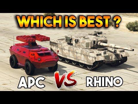 GTA 5 ONLINE : RHINO VS APC (WHICH IS BEST?)