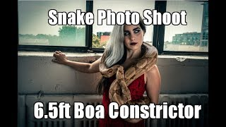 Snake Photo Shoot - Behind The Scenes with Northern Belle Rogue