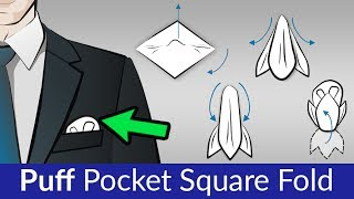 Puff Fold | FASTEST & EASIEST Pocket Square Fold For Men's Sports Jackets & Suits