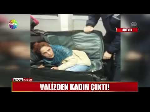 Valizden kadın çıktı!